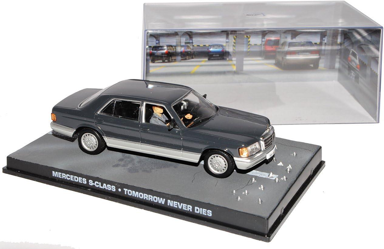 Ixo Mercedes-Benz S-Klasse W126 1979-1991 Der Morgen stirbt nie James Bond 007 1//43 Modell Auto mit individiuellem Wunschkennzeichen