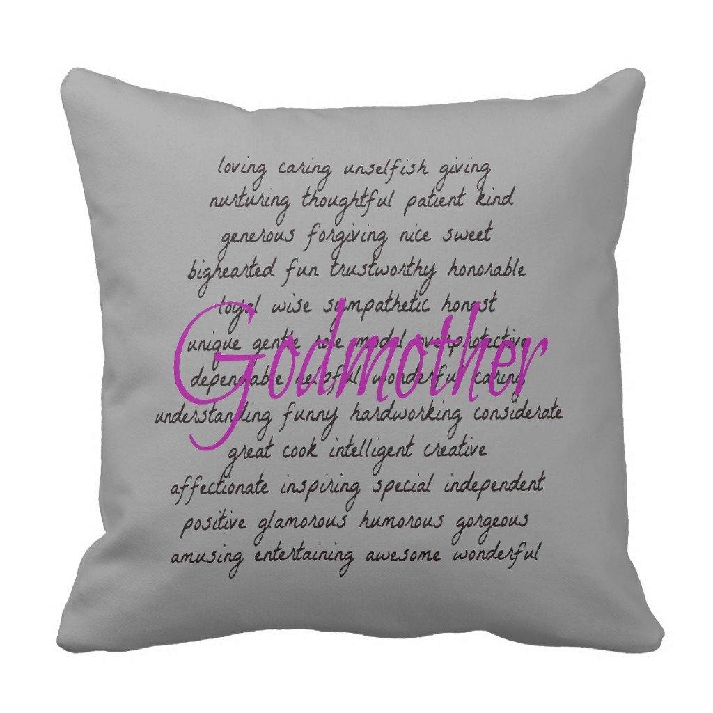 Zazzle Words for Godmother Throw枕 16