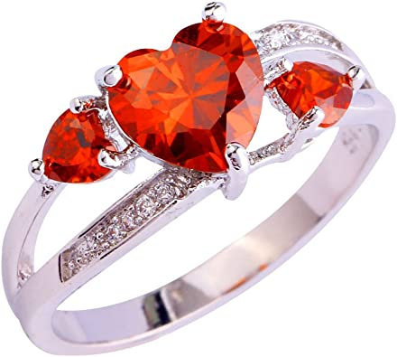 F/&F jewel White Gold Filled Pink Created Sapphire Fine Jewelry for Women Wedding Rings