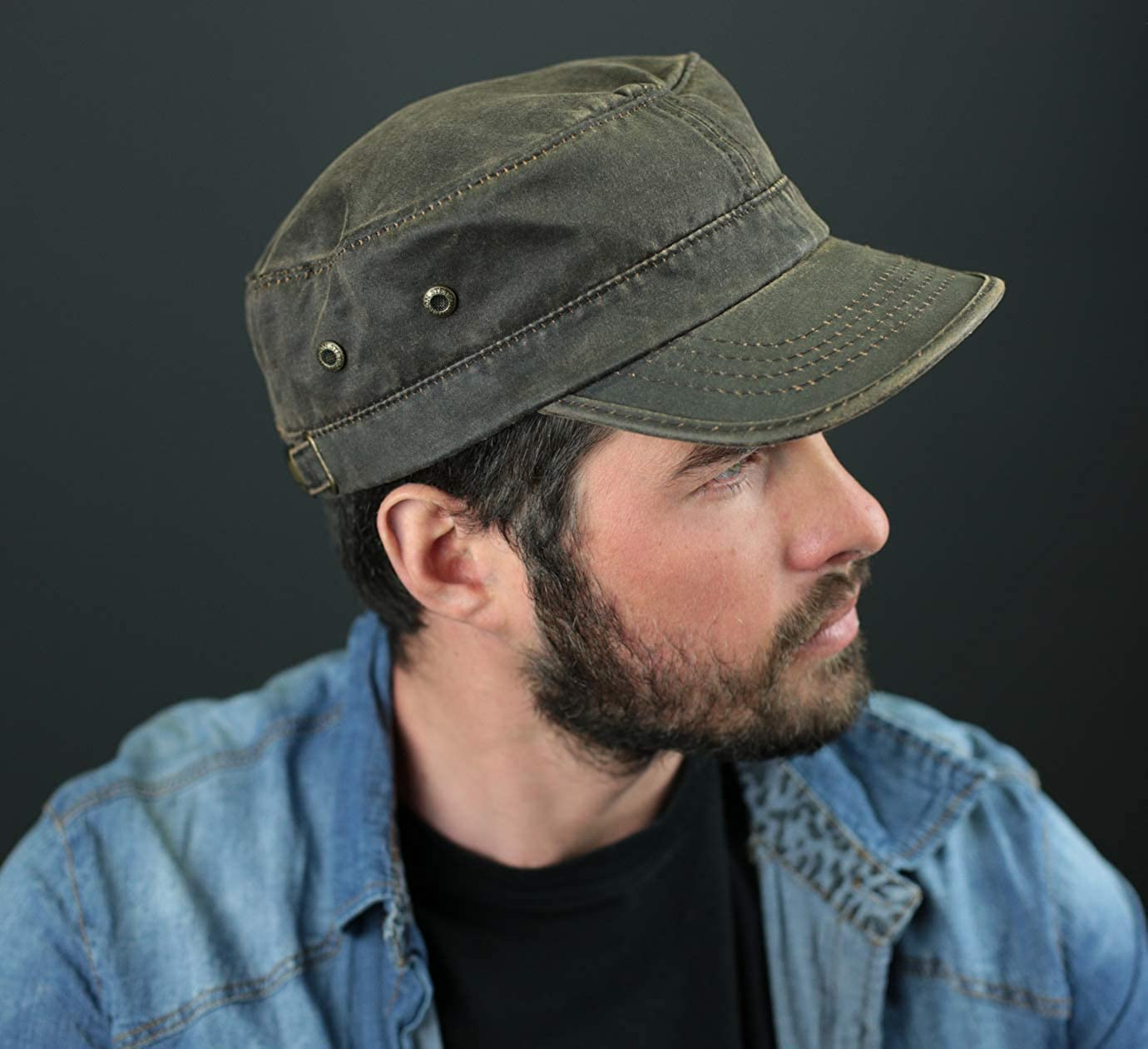 Stetson Mens Datto CO//PE Cadet Army Cap