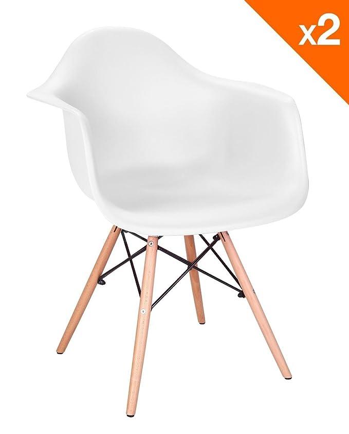 Kayelles DAW Nepal - Juego de 2 sillones de diseño para ...