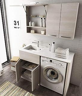 Arredo Bagno Con Lavatrice Incasso.Arredo Bagno In 10 Colori Con Mobile Con Copri Lavatrice