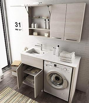 Dafnedesigncom Meuble à Linge Porte Machine à Laver Avec étagères
