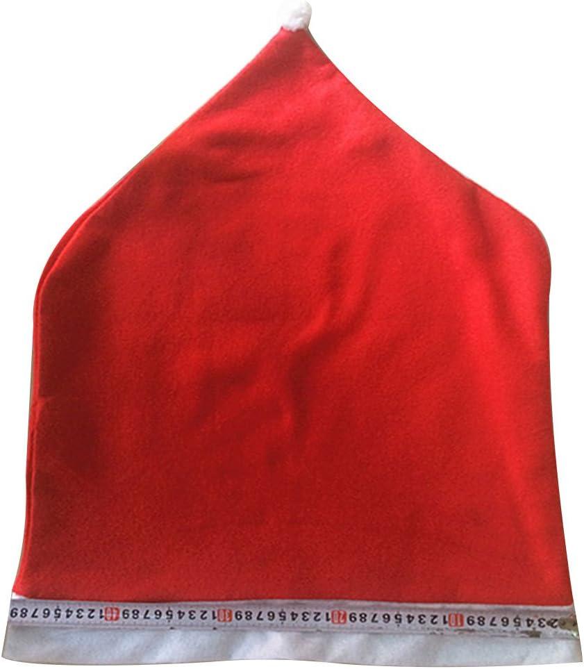 Generic Lot de 6 Housses de Chaise en Feutre Motif p/ère No/ël Rouge 50 x 70 cm