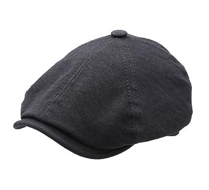 7d580efca58 Stetson - Flat Cap men Brooklin Linen Virgin Wool - Size L  Amazon ...