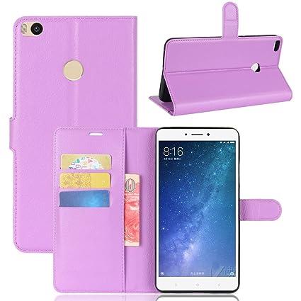 Nadakin Xiaomi Mi Max 2 Calidad Premium Cartera de Cuero con Carcasa de Teléfono Flip Funda con Soporte Magnetico de Cierre para Xiaomi Mi Max ...