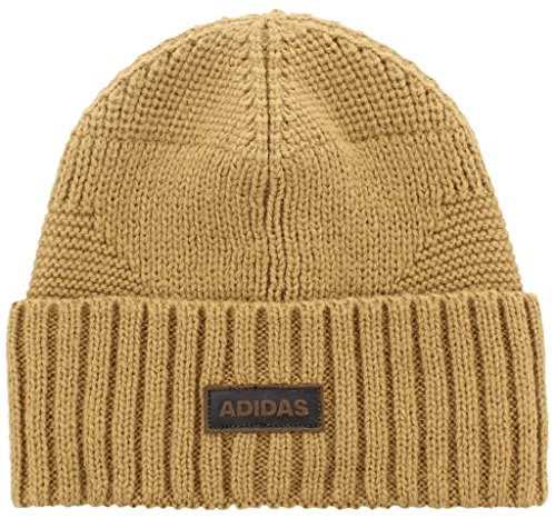 adidas Men's Pine Knot Beanie, Raw Desert/Brown, One Size