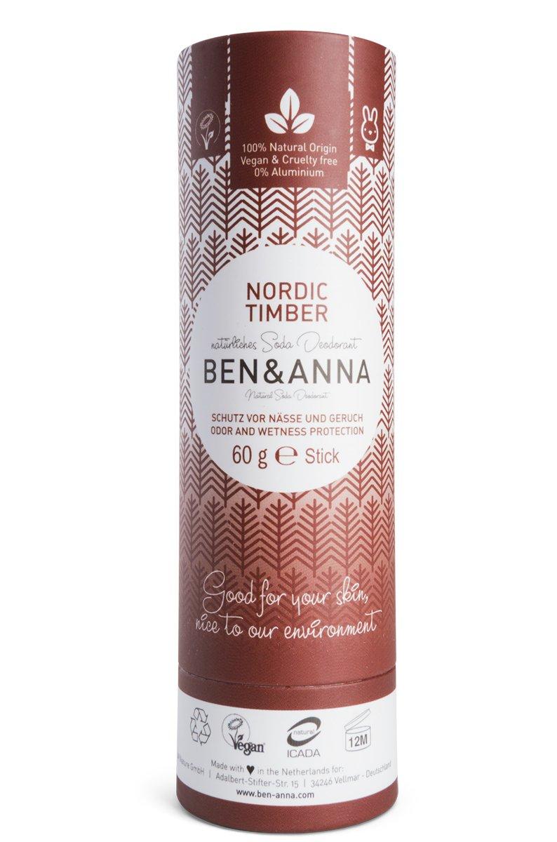 Ben & Anna   Soda Deodorant - Nordic Timber   1 x 60g JM Nature GmbH BA22024