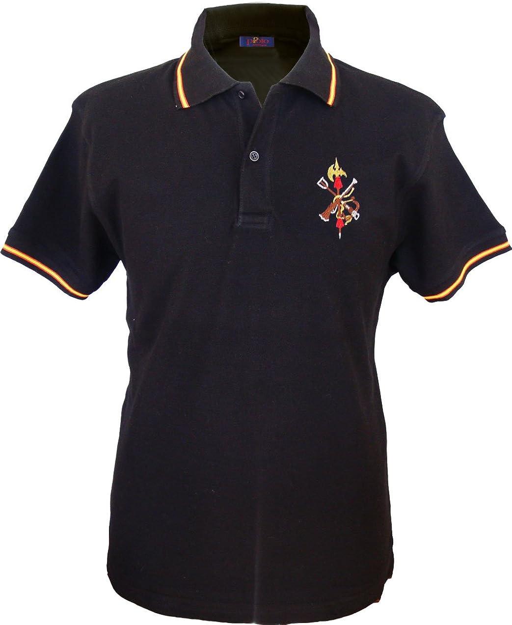Pi2010 - Polo Legión Española Hombre/Bandera de España en Cuello y ...