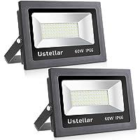 Amazon best sellers best flood lights ustellar 2 pack 60w led flood light ip66 waterproof 4800lm 300w halogen bulb aloadofball Choice Image