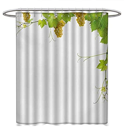 Amazon Anhuthree Vineyard Shower Curtains Digital Printing