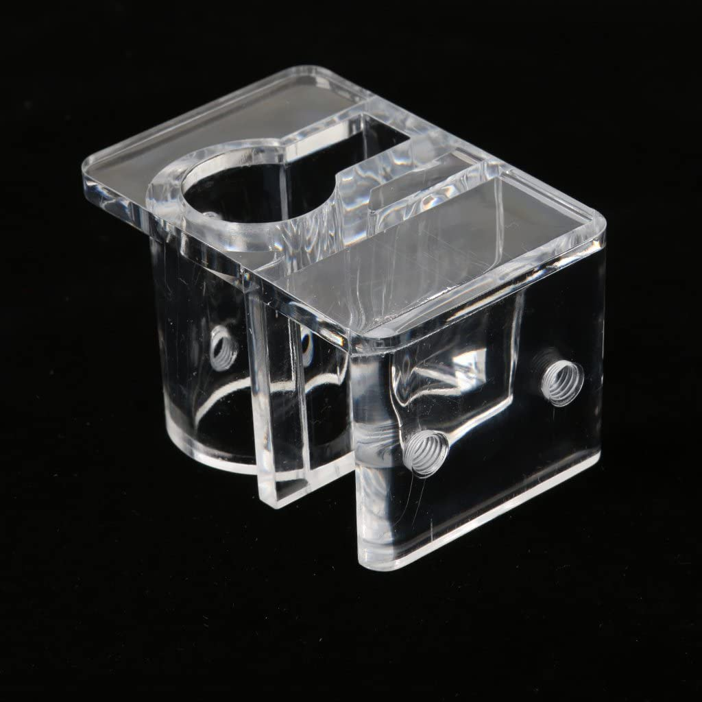 4 Pieces Aquarium Reef Tank Pipe Tube Holder Clip for 12mm//16mm Tubing Tank Mounted