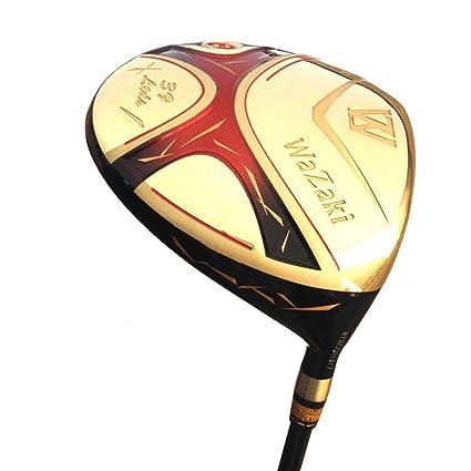 Japón Wazaki Cyclone titanio 460 cc Golf Club oro grafito 0 ...