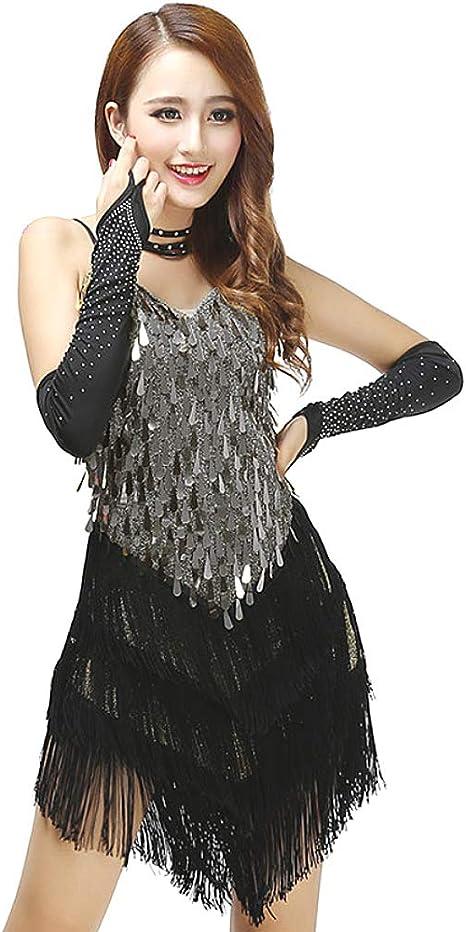 Ballroom Party Latin Rumba Salsa Samba Chacha Dance dress US4 Fringe Dress UK