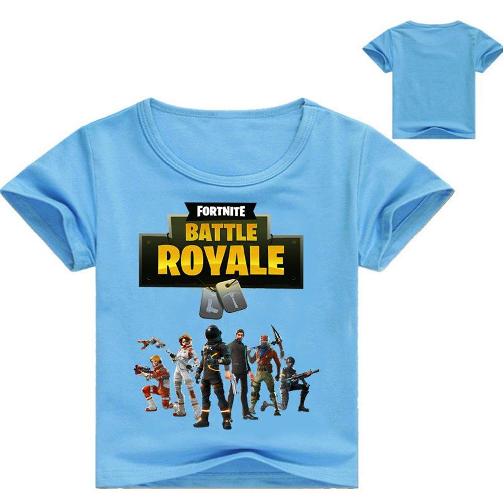 AILIENT Unisex Camiseta de Manga Corta Fortnite Game Battle Royale Fortnite  Shirt Manga Corta Cuello Redondo Camiseta para Niño ... 8dec747f2dfc4