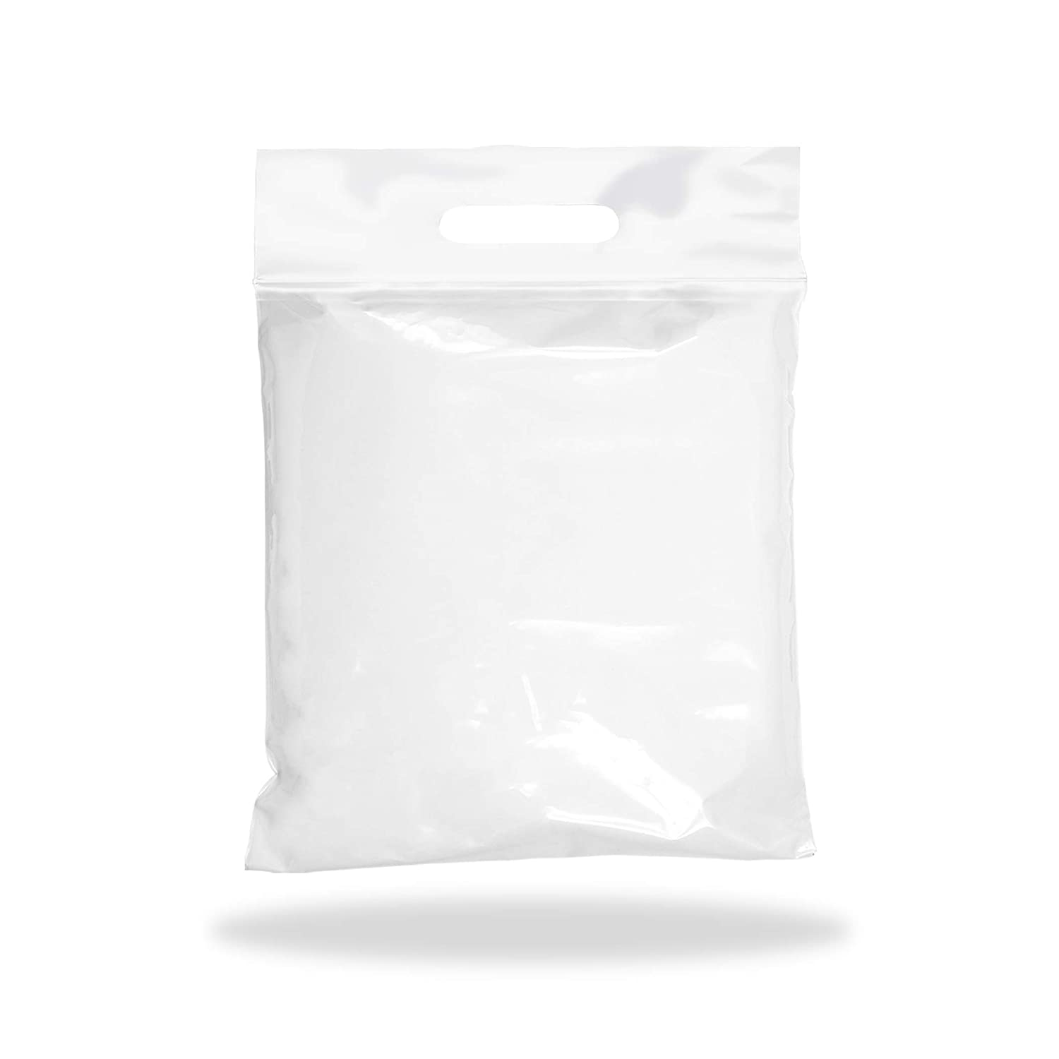 APQ Pack of 50 Die Cut Zip Lock Bags 13 x 15. Lock Top Handle Polyethylene Bags 13x15. Thickness 3 Mil. Reclosable Storage Bags. 3 inch Lip. Zipper Locking Poly Plastic Bags for Goods.
