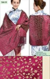 Brocade Shawls Mulberry Silk Scarves Big Size Gifts Handicrafts Stoles
