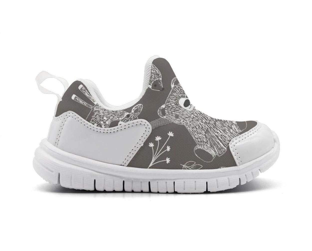ONEYUAN Children Christmas Polar Bear Deer Kid Casual Lightweight Sport Shoes Sneakers Walking Athletic Shoes