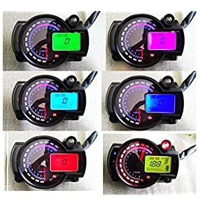 Samdo 299 km/h mph Universal 7 Color Digital 14000RPM ATV Quad Frenzy Motorcycle Speedometer