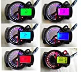 #2: Samdo 299 Kmh Mph Universal 7 Color Digital 14000RPM ATV Quad Frenzy Motorcycle Speedometer