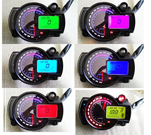 (Samdo 299 Kmh Mph Universal 7 Color Digital 14000RPM ATV Quad Frenzy Motorcycle Speedometer)