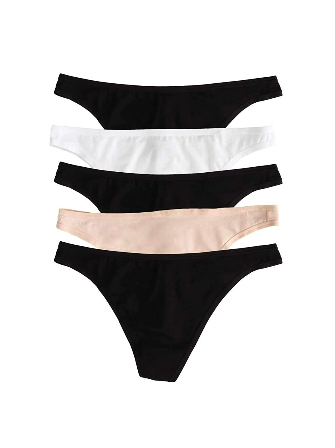 Paramour by Felina Allie Organic Cotton Thong 5-Pack