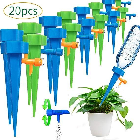 Imagen deBETOY 20 pcs Sistema de Riego Automático- Riego por Goteo Espiga Sondas de Auto Irrigación para Bonsáis, Plantas y Flores de Interior - Dispositivo de Riego Científico y Doméstico Desarrollado