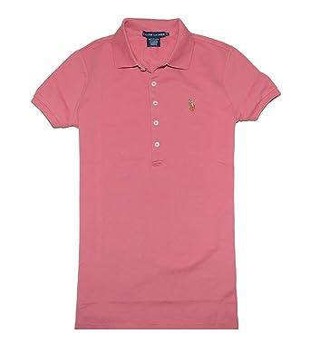 ddf6071271 Ralph Lauren Women Slim Fit Pony Logo Polo T-Shirt (Summer pink) at ...