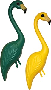 Pink Inc. GRYE Flamingos, Green-Yellow, Pair of 1