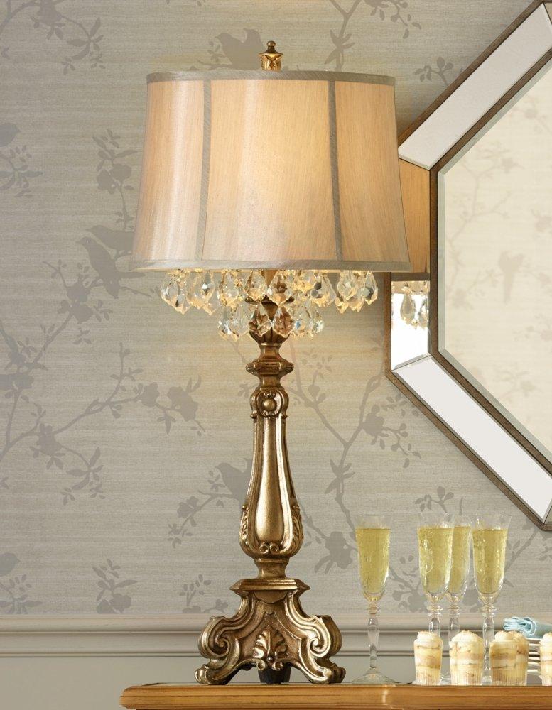 Dubois crystal spray console table lamp amazon com