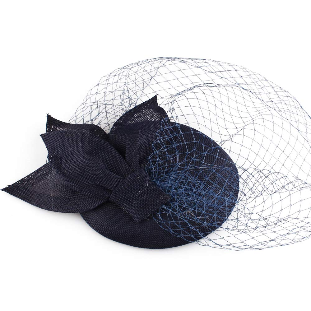 Fascinators hat with Veiling for Kentucky Wedding Party Races Event SYF149