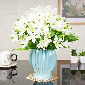 Licxcx Flores Artificiales Flor de Seda Europea Rosa Muebles para el hogar Mesa de la Sala