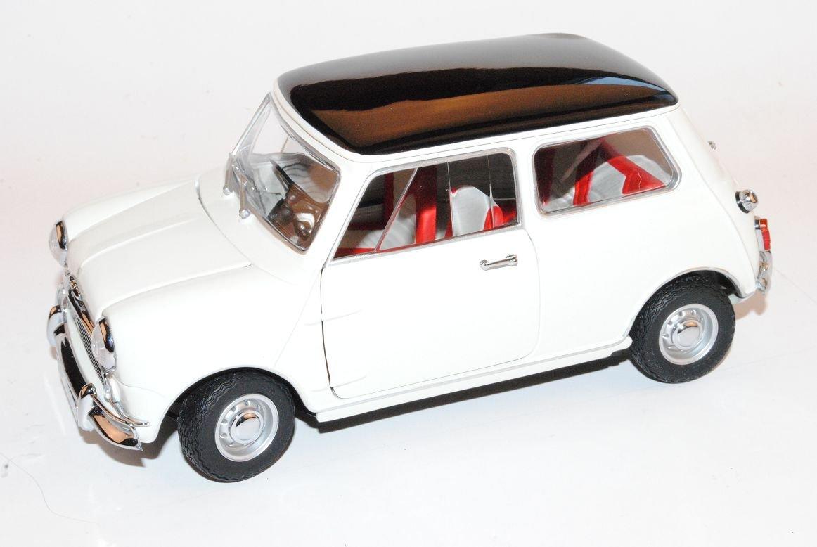 Kyosho Mini Morris Cooper S MK1 1275S Weiss 1968 1/18 Modell Auto mit individiuellem Wunschkennzeichen