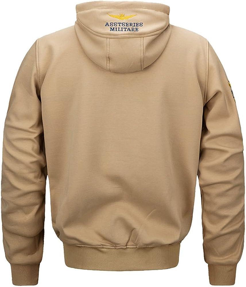 Tortor 1Bacha Mens Fashion Flight Hoodie Jacket Full Zip Hooded Sweatshirt