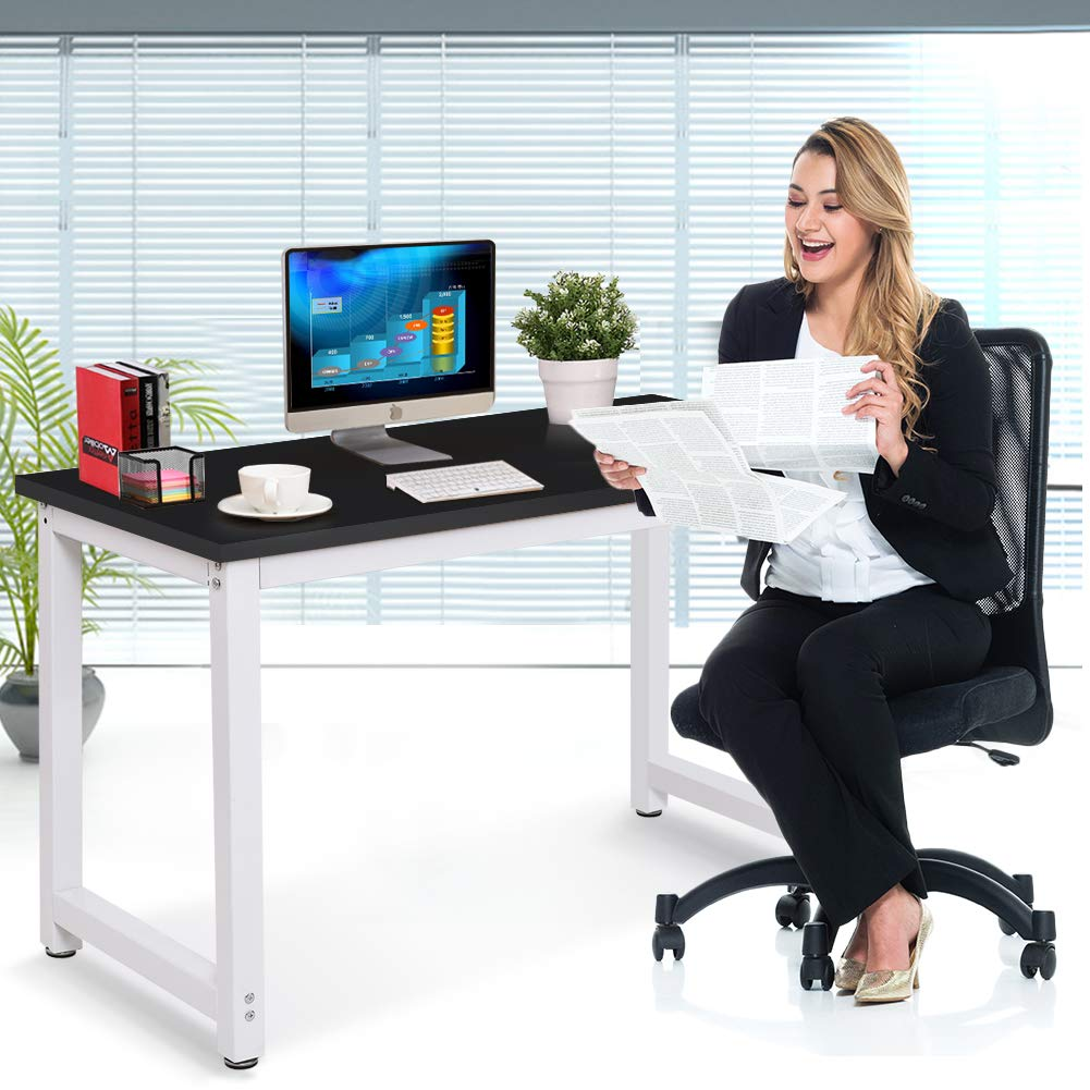 Toolsempire 47'' Office Computer Desk PC Laptop Dining Table Workstation Study Writing Desk for Home Office Furniture (Black) by Toolsempire (Image #8)