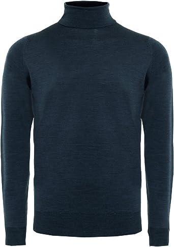 Brand New John Smedley Cherwell Polo Neck Jumper In Midnight Size XL