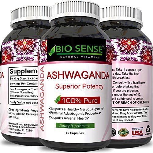 Ashwagandha Root Powder Supplement Relaxation