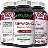 Cheap Pure Ashwagandha Extract and Root Capsules Ginseng Herbal Vitamin Complex Pill for Improved Relaxation and Better Sleep with Mood Immune Muscle Boosting Benefits Plus Memory Height and Adrenal Support