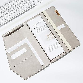 TIANSE Estuche de documentos A4 multiusos de bolsillo, papel ...