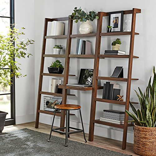Ladder Bookcase Desk (Mainstays Sumpter Park Ladder Bookcase Home and Office Desk (Brown))