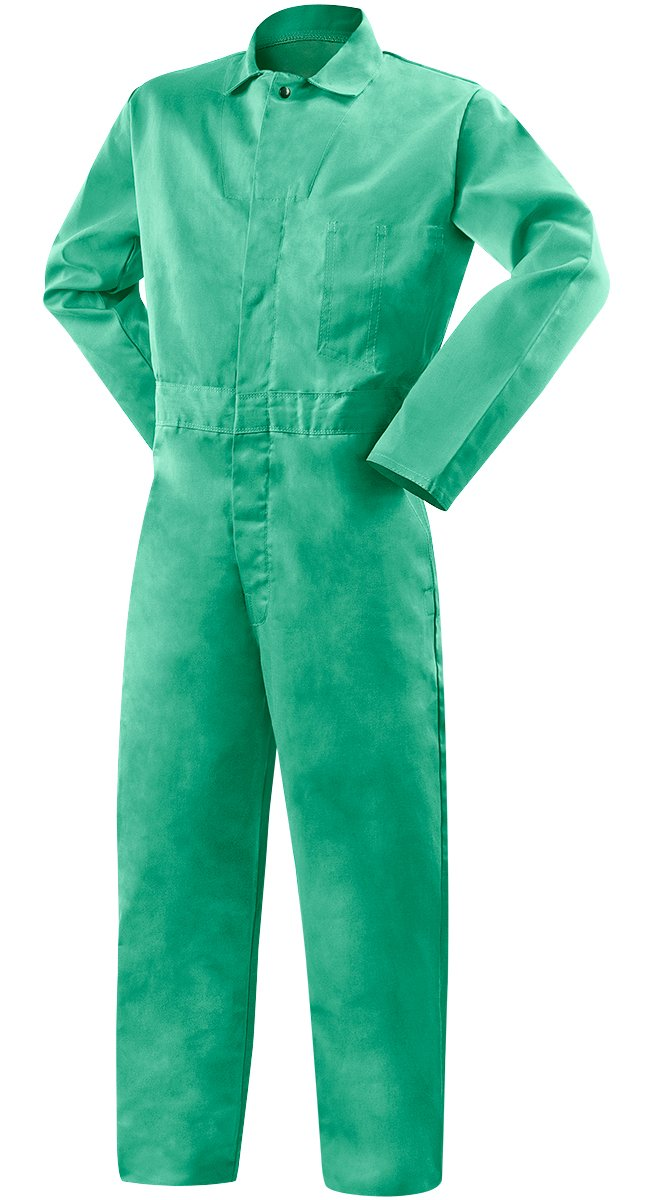 Steiner 1035-X Coverall, Weldlite Green 9-Ounce Flame Retardant Cotton, Extra Large