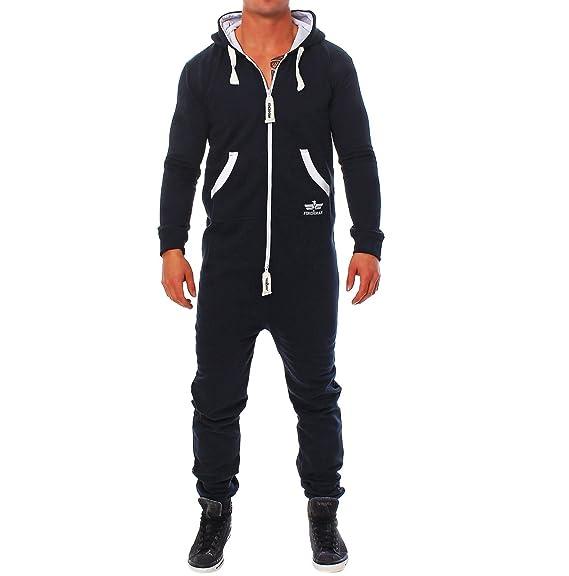 Survêtement Finchman pour homme - Combinaison de jogging une pièce - Motif  camouflage - Bleu - ce0062bd36bd