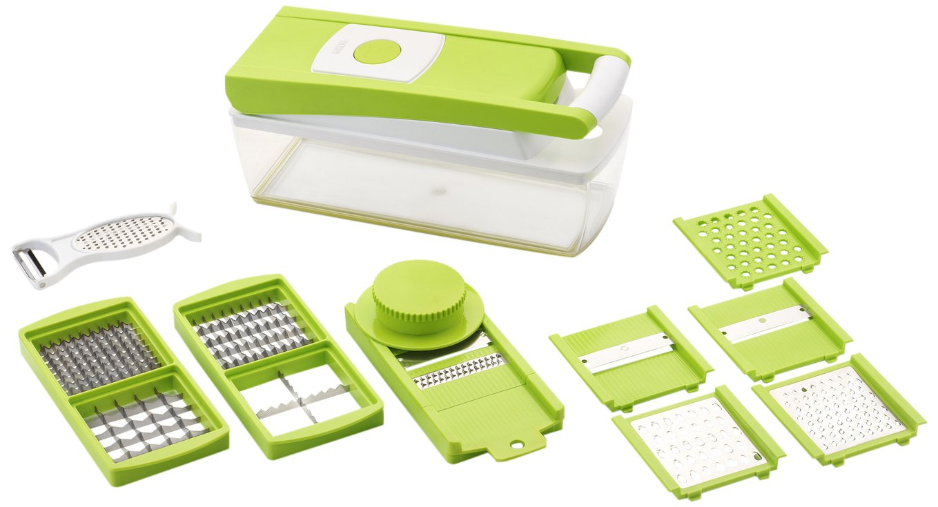 Deals on Ganesh Vegetable Dicer + 12 Cutting Blades