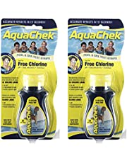 AquaChek 511244-02 Yellow 4-in-1 Free Chlorine Test Strips (2 Pack)