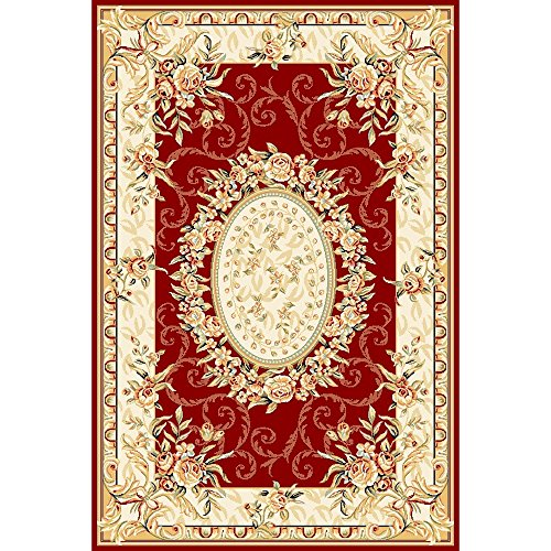 """UPC 683726287087, Safavieh Lyndhurst Collection LNH328C Traditional European Medallion Red and Ivory Area Rug (5'3"""" x 7'6"""")"""