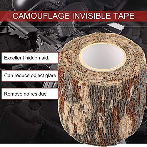 Camouflage Migvela Durable Roll Men Army Arm/ée Adh/ésif Camouflage Bande Stealth Wrap Randonn/ée en Plein Air Camping Outil De Tir De Chasse Stealth Wrap