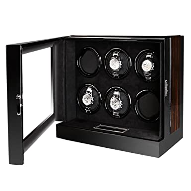 Amazon Com Olymbros Wooden Automatic Watch Winder Storage Box With