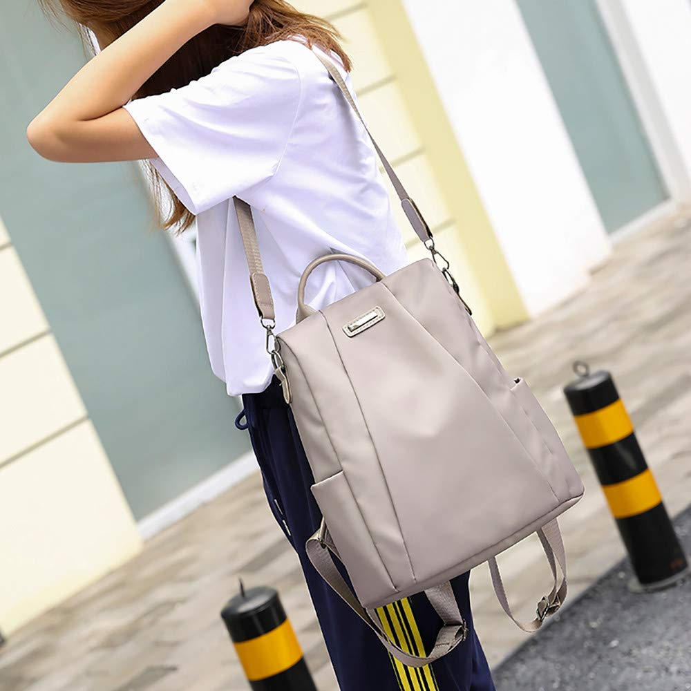 Clearance Sale Women Travel Backpack Oxford Cloth School Bag Carry Everywhere Tote Bags [Valentine's Day ] (Khaki) by Aurorax Bag (Image #2)