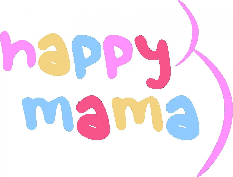Damen Baby H/ände Fu/ßabdruck T-Shirt Top Oberteil Schwangere Happy Mama 013p