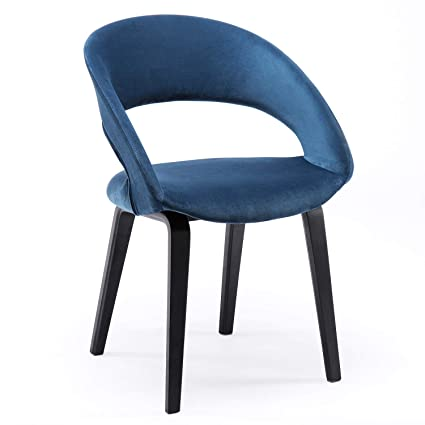Amazoncom Yimiga Dining Chair Open Back Blue Mid Century Modern